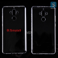 Hard Plastic PC Clear Back Cover for HUAWEI MATE 9